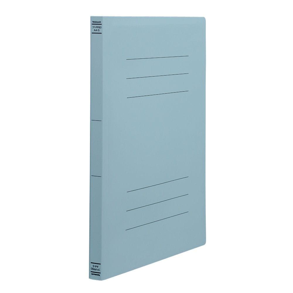 ナカバヤシ PP製フラットファイルA4 ブルー フF-PP80B