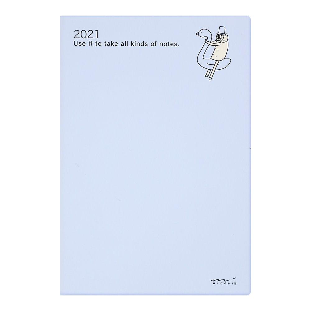 ミドリ デザインフィル 2021年 ダイアリー B6 オジサン柄