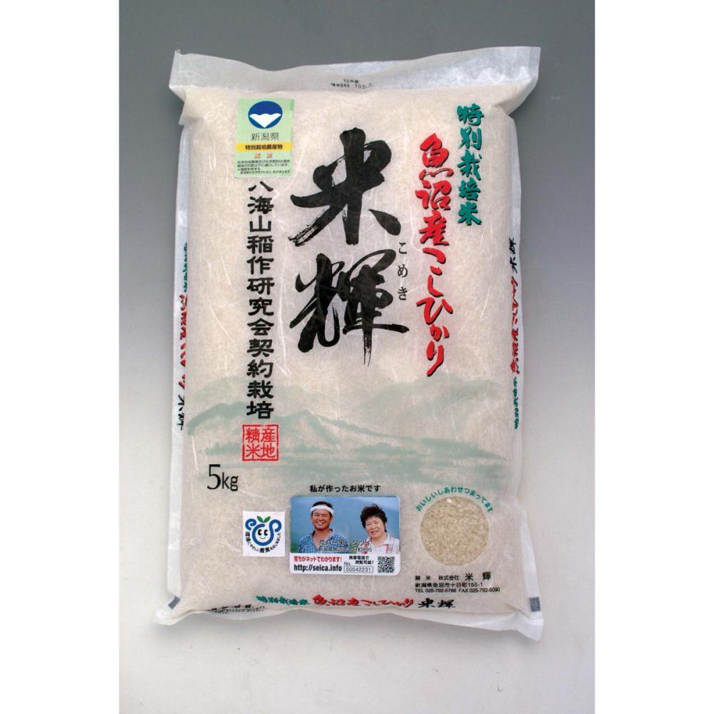 新米 新潟県産 令和2年度産 新潟県認証特別栽培米 魚沼産こしひかり米輝 精米10kg(5kg×2)