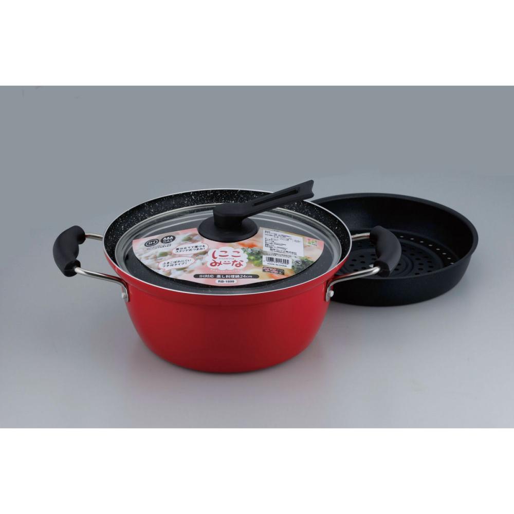 和平フレイズ 蒸し料理鍋 にこみーな IH対応 24cm