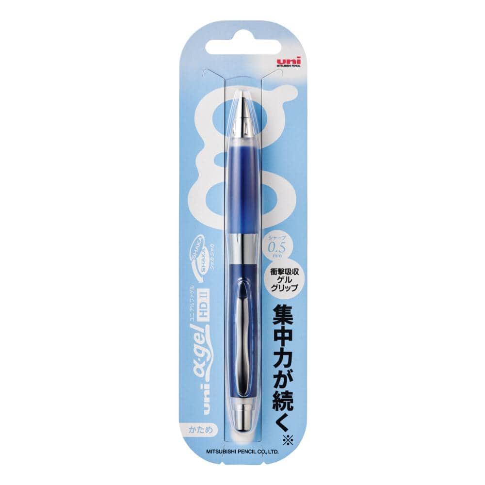三菱鉛筆 ユニ アルファゲル シャープペン 0.5mm ネイビー M5-619GG