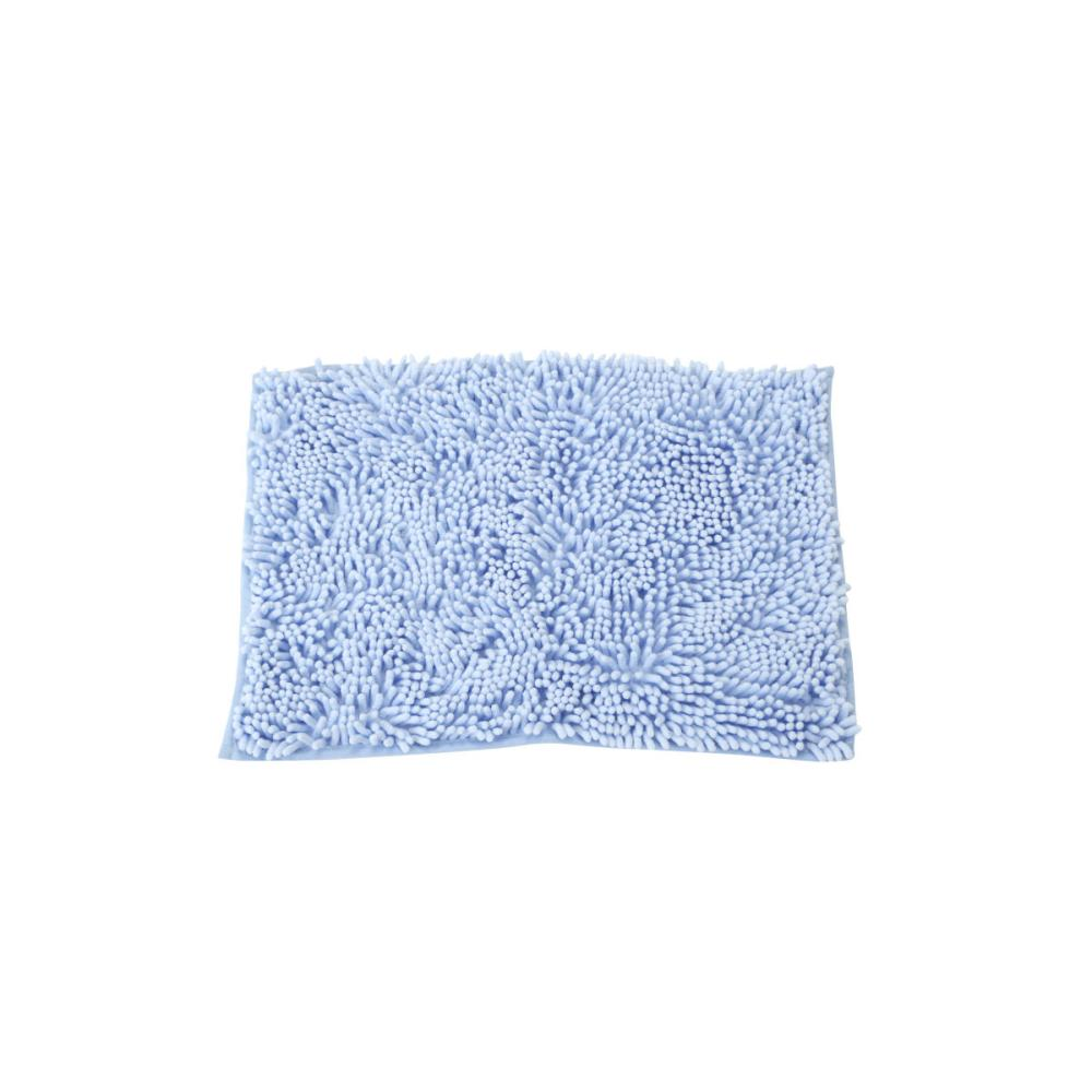 アテーナライフ ふわふわ吸水バスマット ブルー 35×50cm