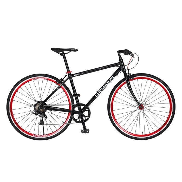 シボレー アルミクロスバイク 700C ブラック AL-CRB7006