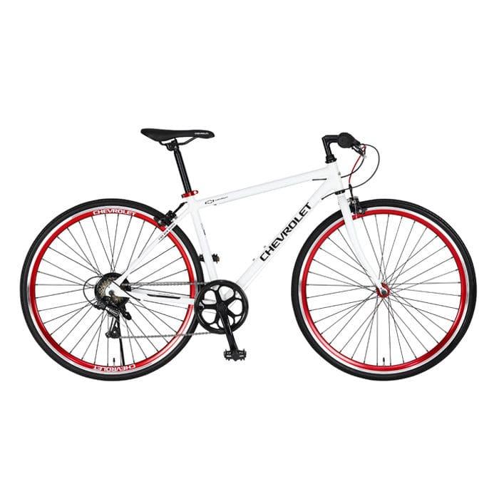シボレー アルミクロスバイク 700C ホワイト AL-CRB7006
