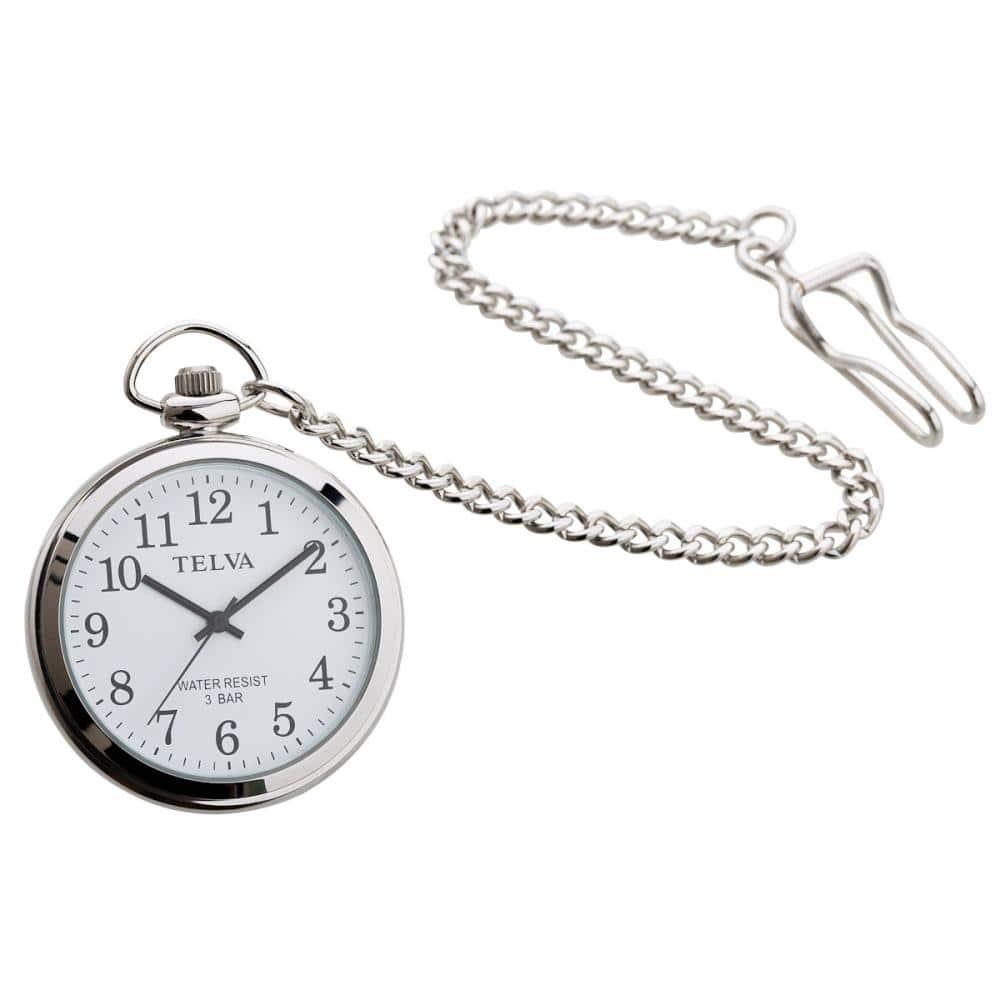 クレファー 懐中時計 シルバー TE-AM153-WTS