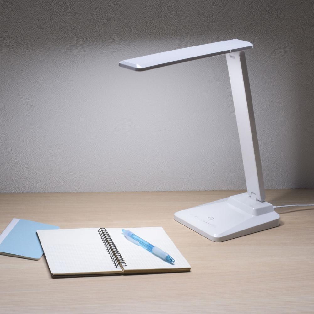 オーム電機 LEDデスクランプ調光式 タッチセンサー