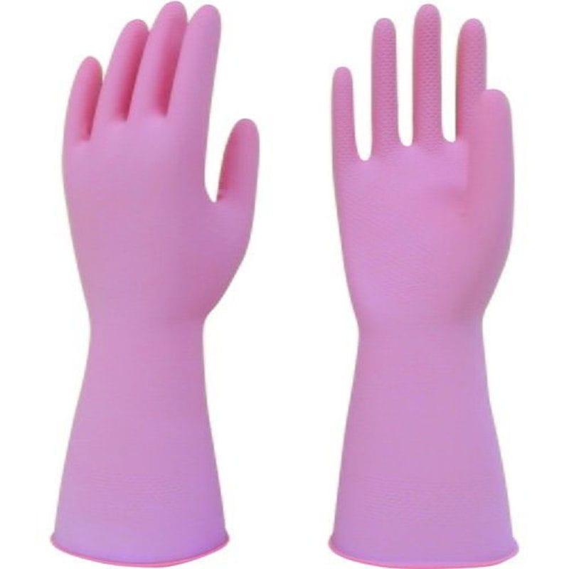 トワロン 天然ゴム手袋うす手 ピンク Mサイズ 217-M
