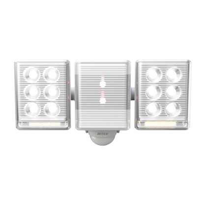 ムサシ フリーアームミニ2灯式LEDセンサーライト 9W LED-AC2018