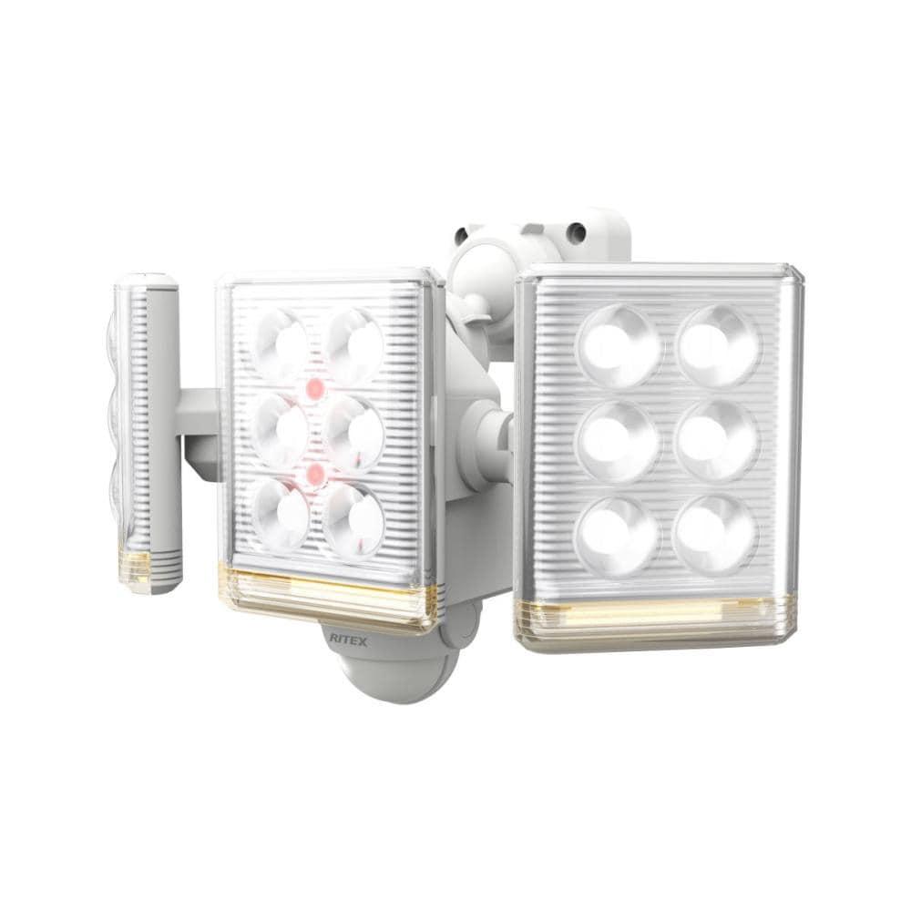 ムサシ フリーアームミニ3灯式LEDセンサーライト 9W LED-AC3027
