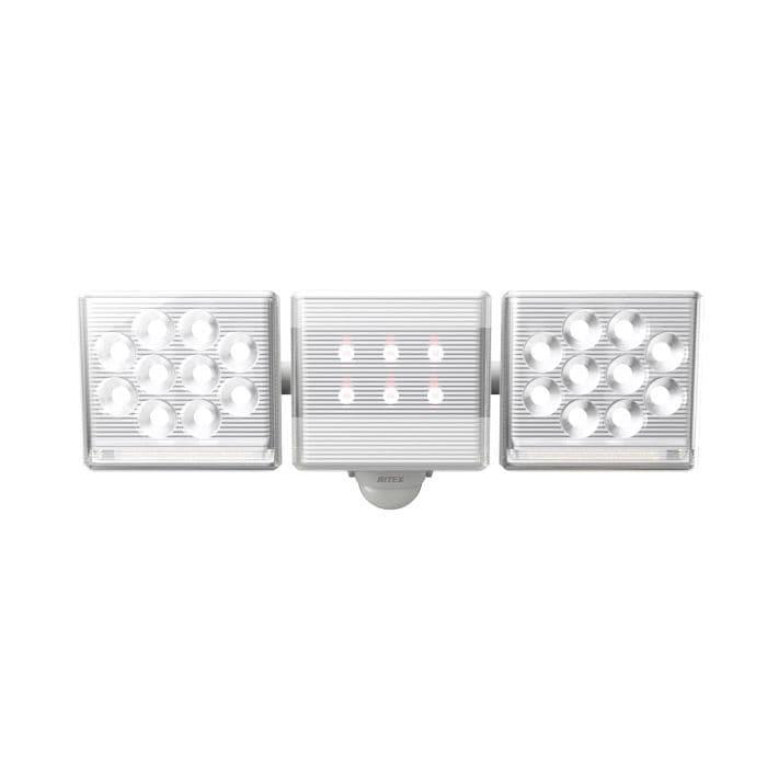ムサシ フリーアーム高機能2灯式LEDセンサーライト 12W LED-AC3029