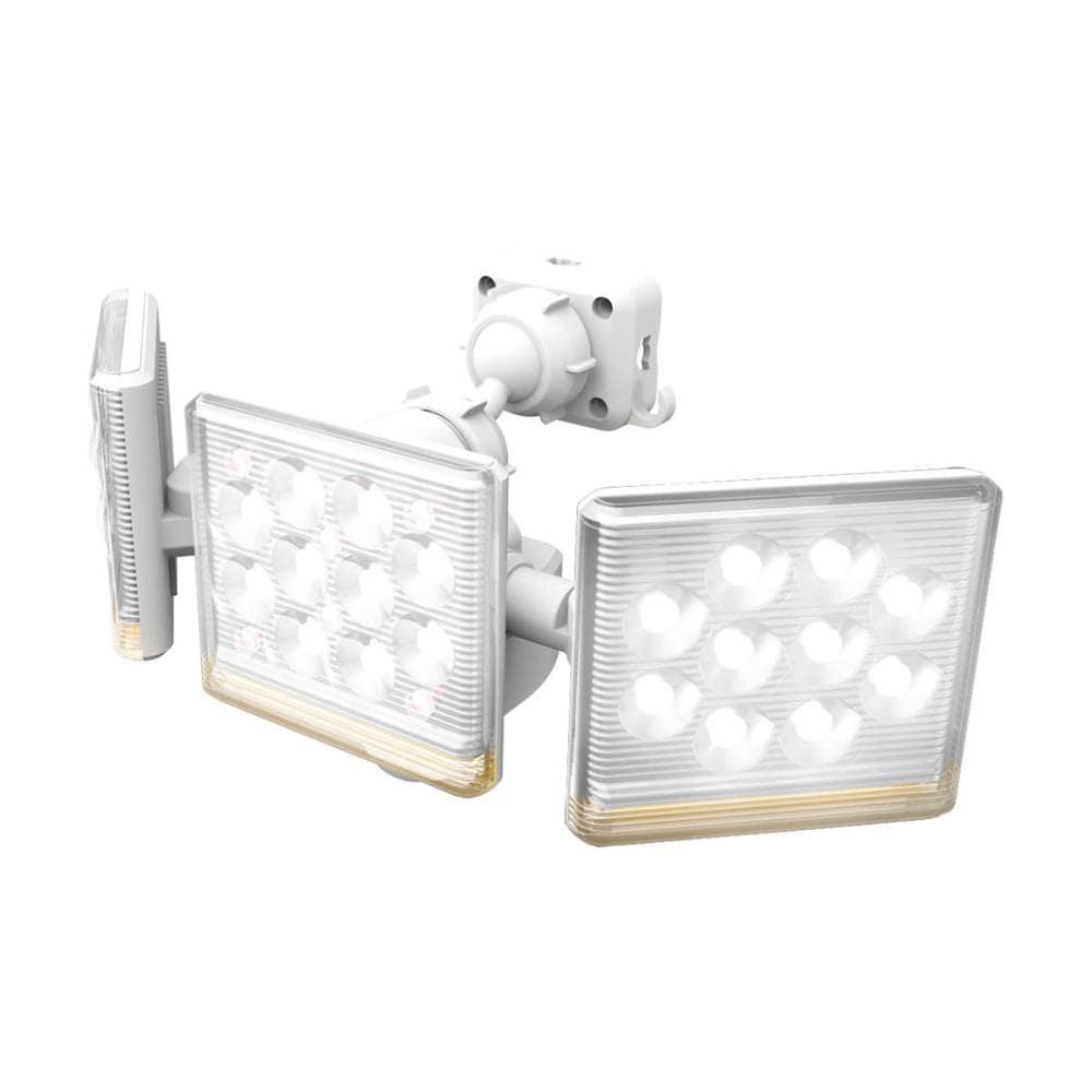 ムサシ フリーアーム高機能3灯式LEDセンサーライト 12W LED-AC3045