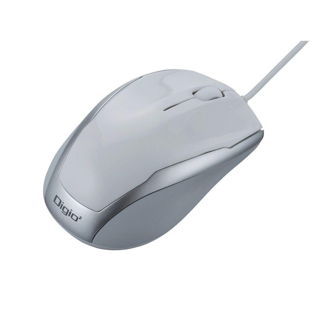ナカバヤシ 有線3ボタンBlueLEDマウス ホワイト MUS-UKT115W