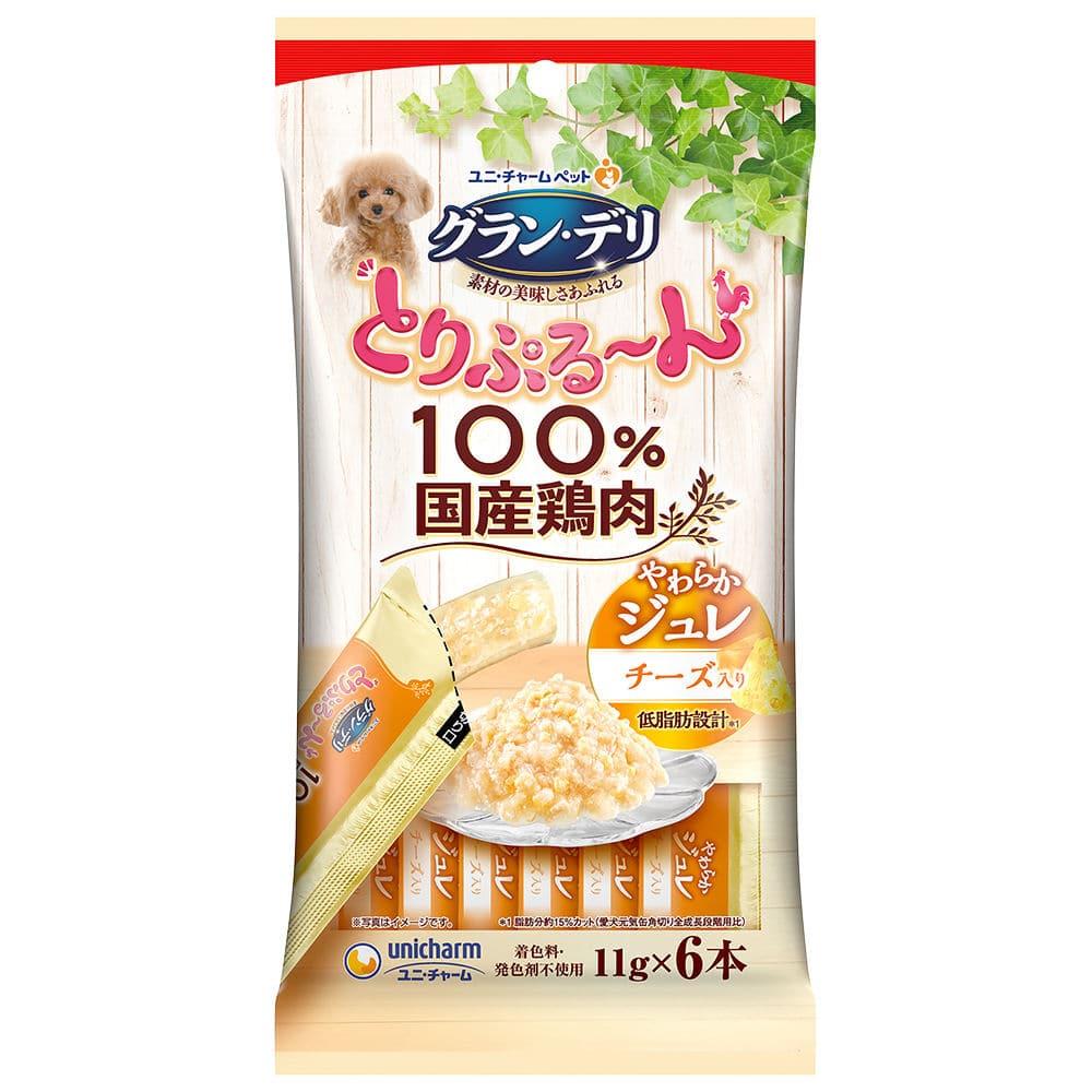 ユニ・チャーム グラン・デリ とりぷる~んジュレ チーズ入り 11g×6本