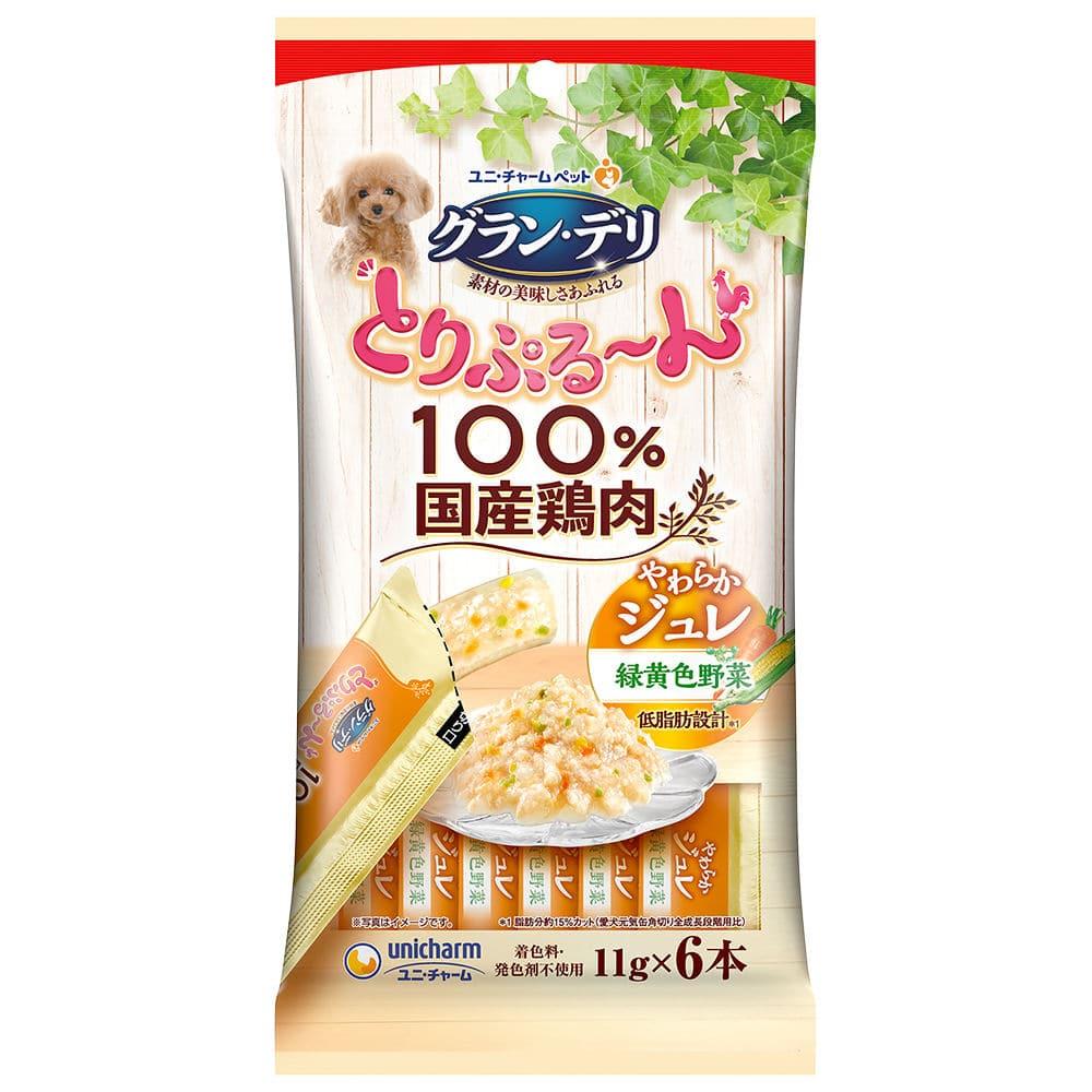 ユニ・チャーム グラン・デリ とりぷる~んジュレ 緑黄色野菜 11g×6本
