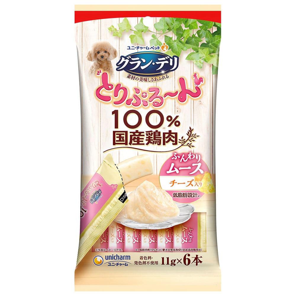 ユニ・チャーム グラン・デリ とりぷる~んムース チーズ入り 11g×6本