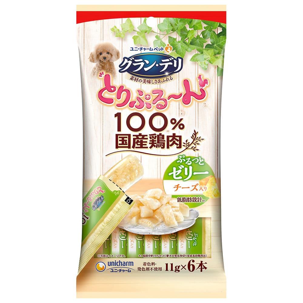ユニ・チャーム グラン・デリ とりぷる~んゼリー チーズ入り 11g×6本