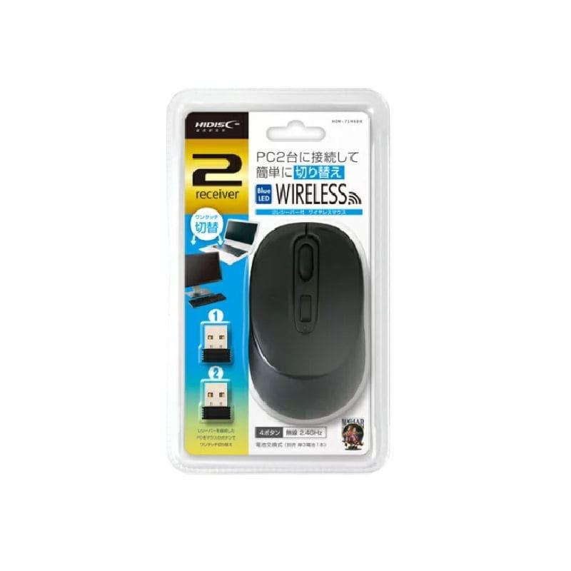 HIDISC 2レシーバーワイヤレスマウス ブラック HDM-7146BK