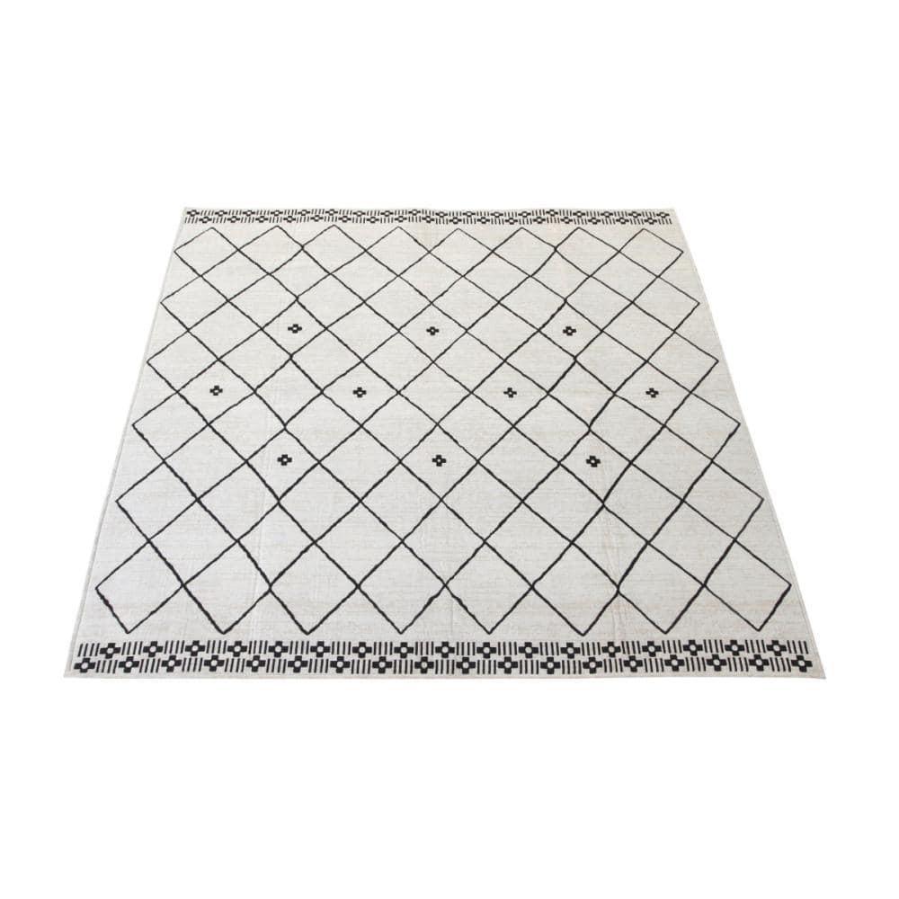 アテーナライフ 抗菌防臭 シェニールジャガードラグ ダイヤグラム 約2畳 185×185cm