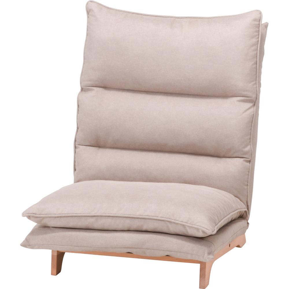 不二貿易 ダブルクッション座椅子 フィット2 1人掛 XYーCRー532(1P) ベージュ