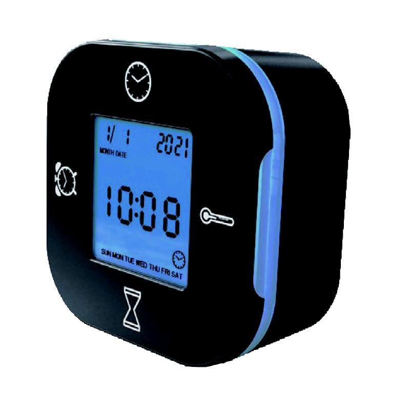 多機能デジタル置時計 ブラック