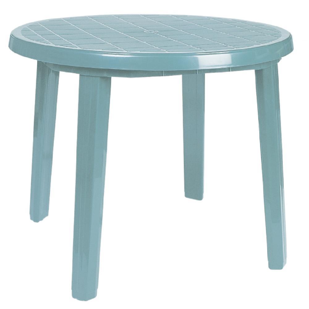 プラスチックテーブル 90cm クラウドブルー