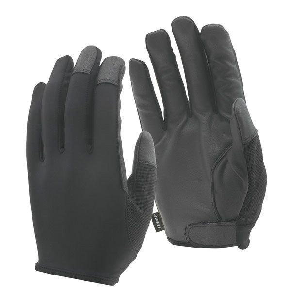 おたふく手袋 シンセティックレザー手袋 インサイドベルト 黒 S FB-64