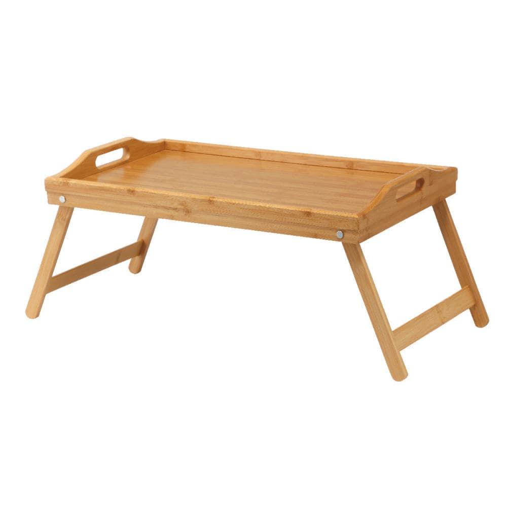 ナチュラルシーズン 持ち運びに便利なバンブーローテーブル