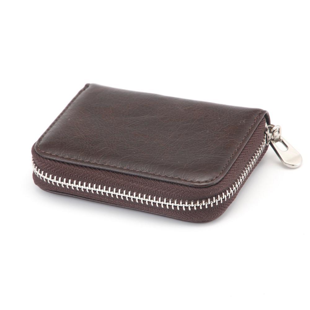L'CREST(ルクレスト) コンパクト財布 ブラウン