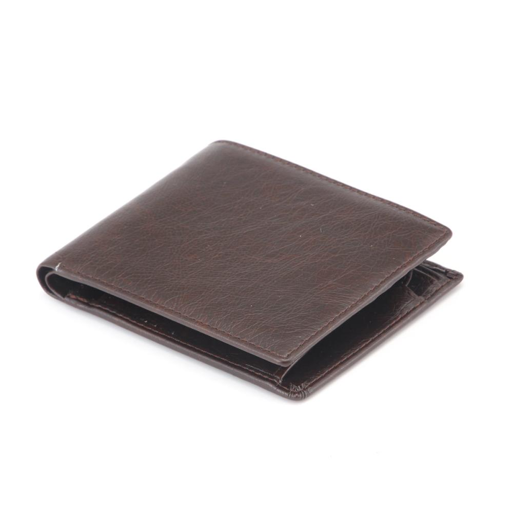 L'CREST(ルクレスト) 二つ折り財布 ブラウン