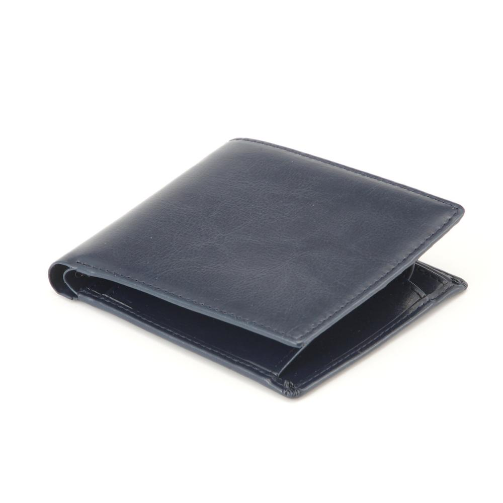 L'CREST(ルクレスト) 二つ折り財布 ネイビー