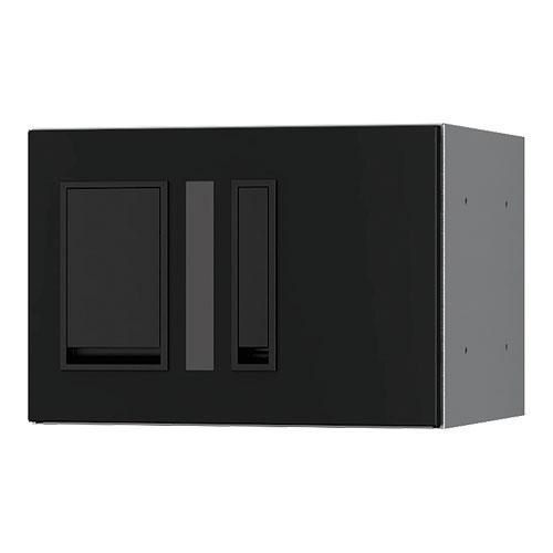 宅配ボックス プチ宅280機械式 H200 捺印付 ブラック KS-TLP28R2AN-BK