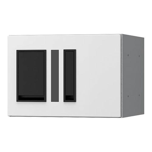 宅配ボックス プチ宅280機械式 H200 捺印付 ホワイト KS-TLP28R2AN-W