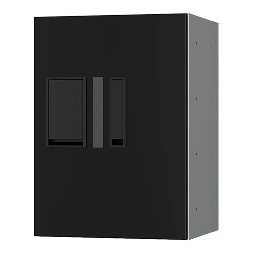 宅配ボックス プチ宅280機械式 H400 捺印付 ブラック KS-TLP28R4AN-BK