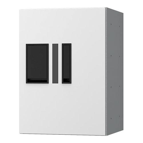 宅配ボックス プチ宅280機械式 H400 捺印付 ホワイト KS-TLP28R4AN-W