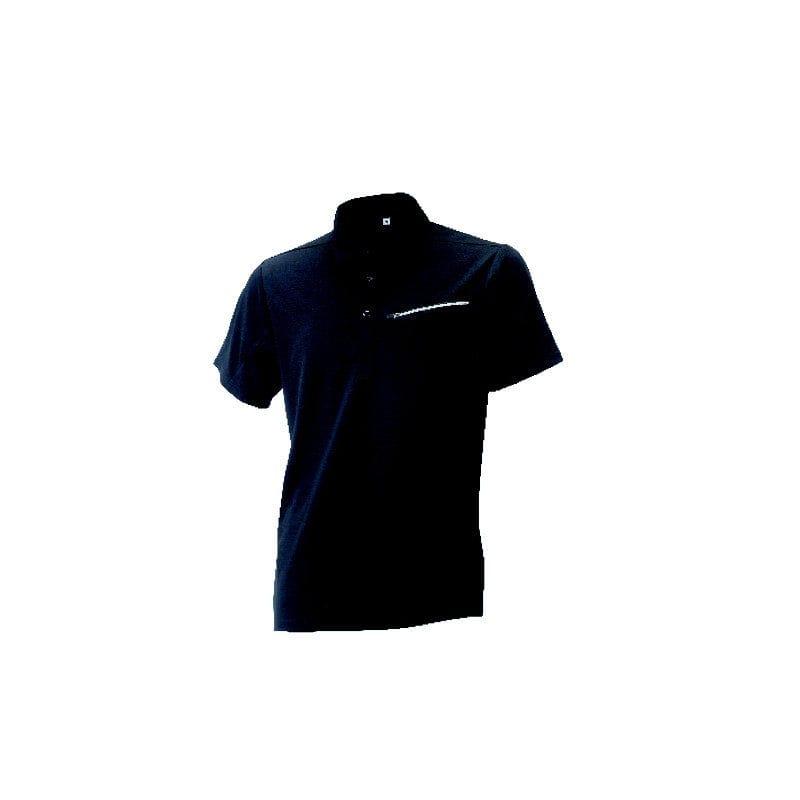 コメリ アクティブ半袖ポロシャツ ブラック LL