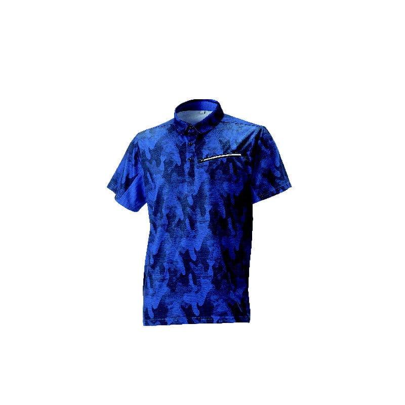 コメリ アクティブ半袖ポロシャツ ネイビー L