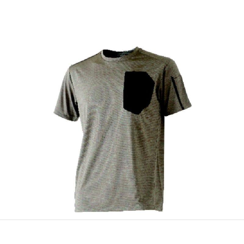 コメリ デザインワークTシャツ カーキ半袖 L