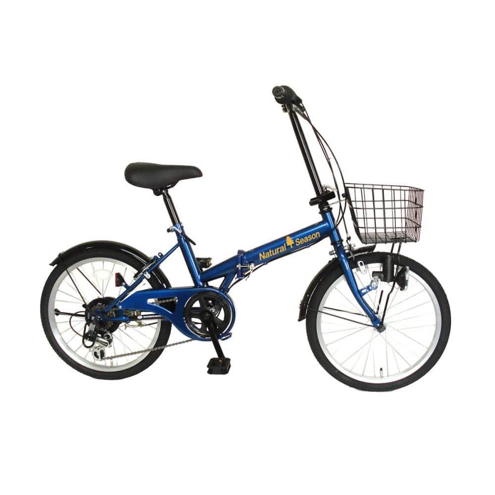 折り畳み自転車 レトロ 20インチ ネイビー