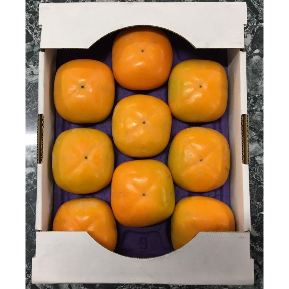 新潟県新津産 おけさ柿 秀品 約2kg箱 2Lサイズ 9玉入