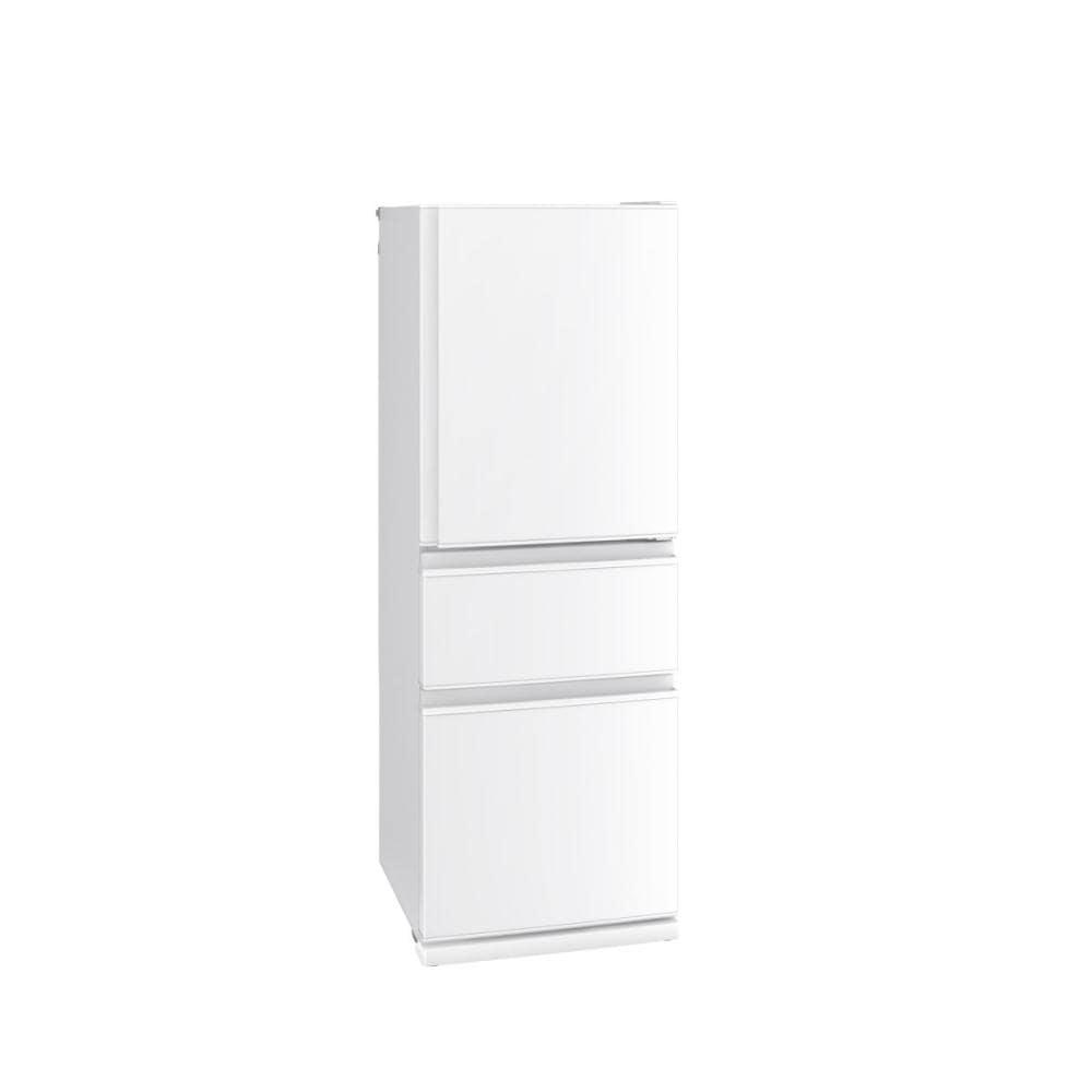 三菱電機 3ドア冷蔵庫 330L 右開き パールホワイト MR-C33F-W