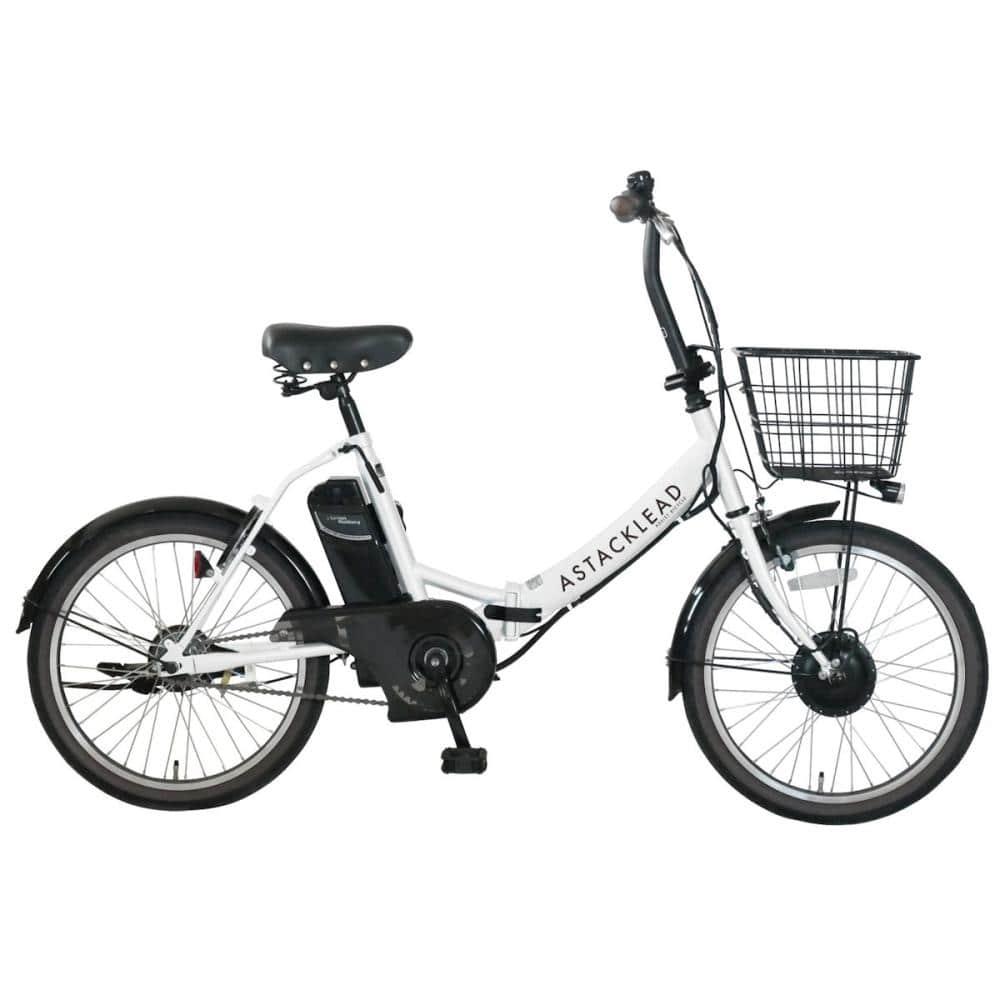 折り畳み電動アシスト自転車 アスタックリード ホワイト