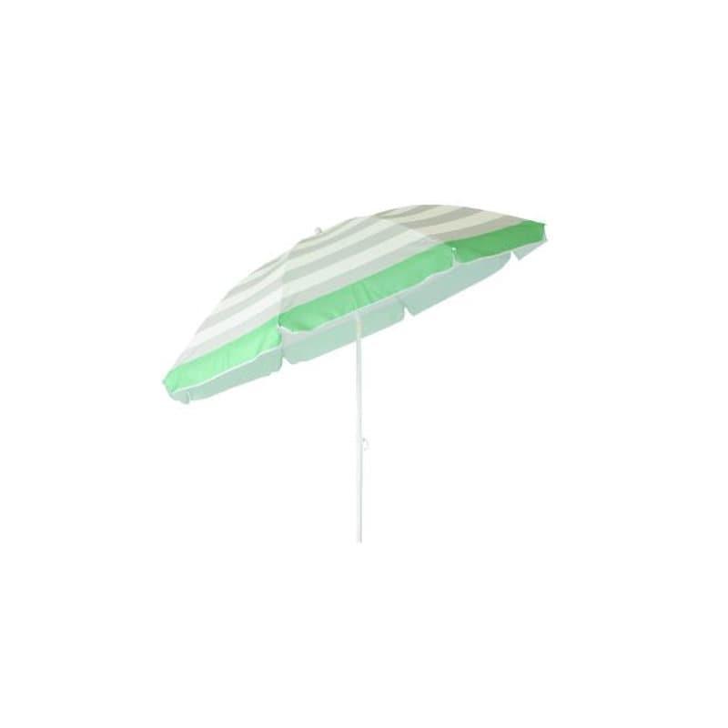 ナチュラルシーズン チルトレジャーパラソル 直径180cm グリーン/ホワイト
