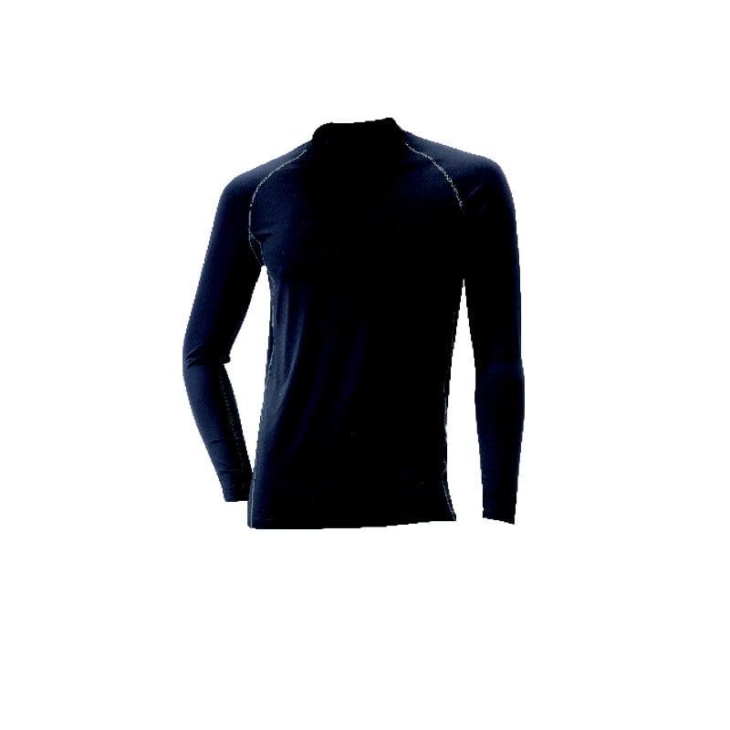 コメリ 遮熱ナイロンコンプレッションTシャツ 長袖 ブラック×グレー L