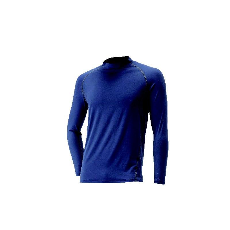 コメリ 遮熱ナイロンコンプレッションTシャツ 長袖 ネイビー×チャコール L