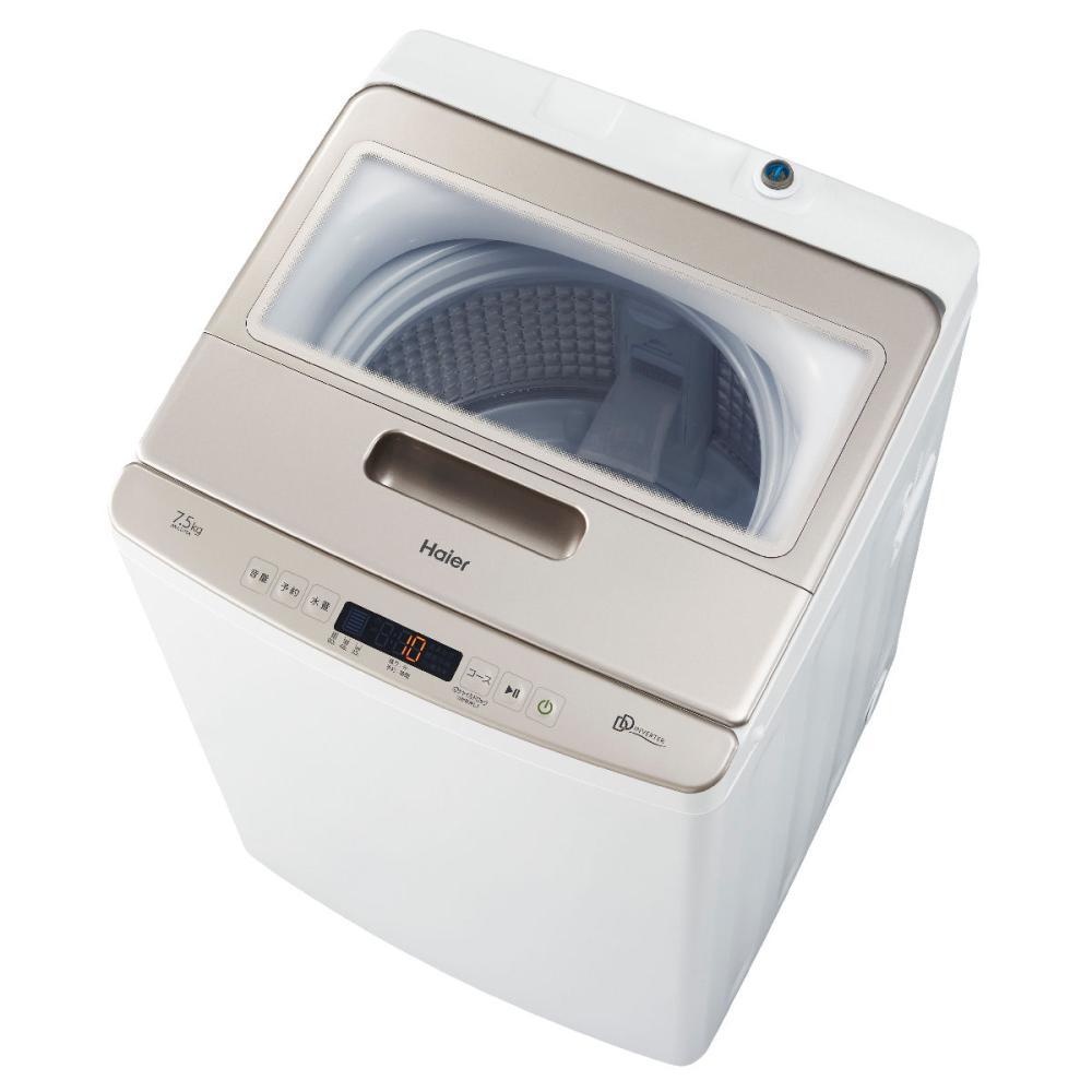 ハイアール DDインバーター 7.5kg 全自動洗濯機 ホワイト JW-LD75A(W)