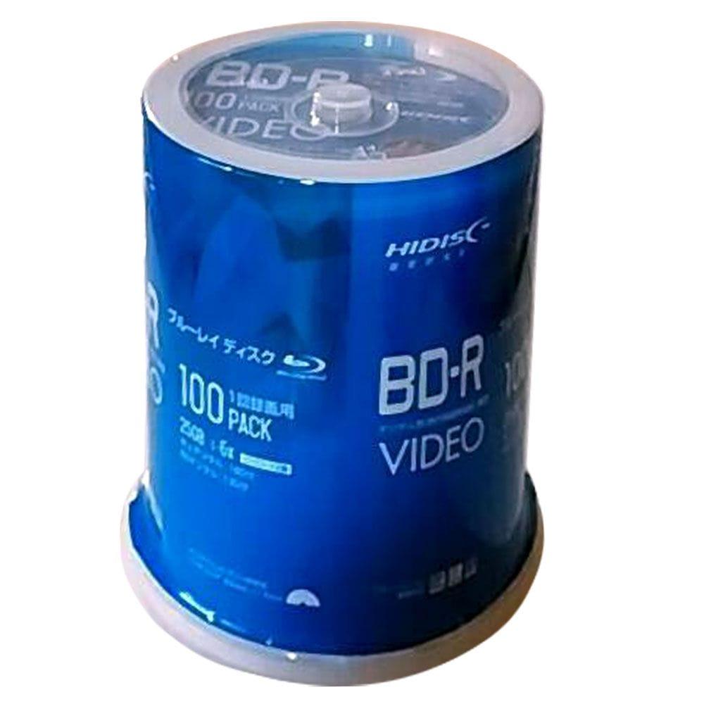 1回録画用 BD-R 6倍速対応 100枚スピンドルケース入