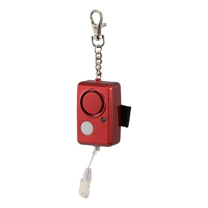 オーム電機 95dB・大音量防犯ブザー LEDライト付き OSE-JCA226-R