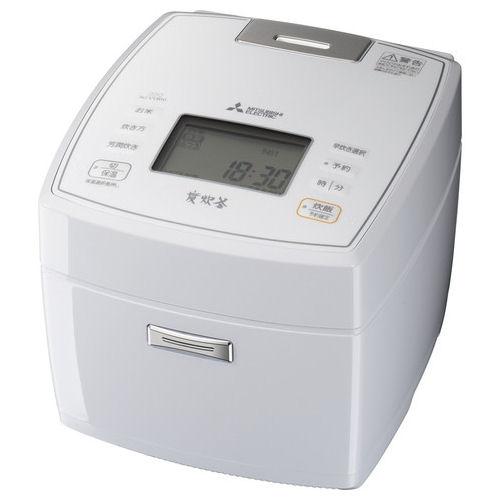 三菱電機 IH炊飯器 (炭炊釜) 5.5合炊き ホワイト NJーVVB10-W