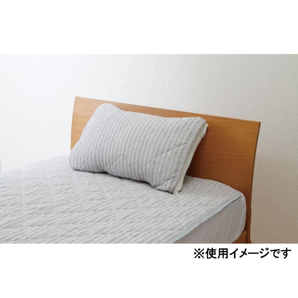 アテーナライフ さらさら綿サッカー枕パッド 抗菌防臭 55×50cm