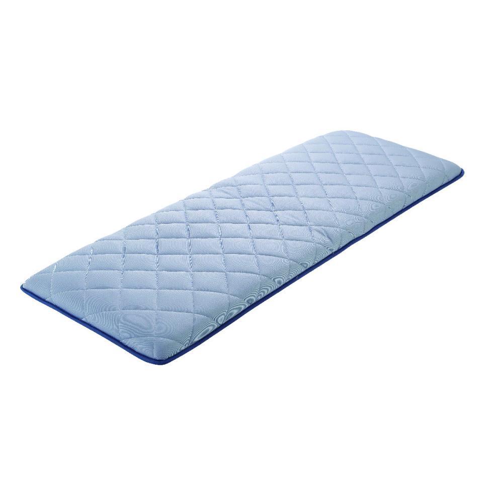 アテーナライフ 涼+シリーズ 冷感 大判 ひんやり極厚三層長座布団 抗菌防臭 ブルー